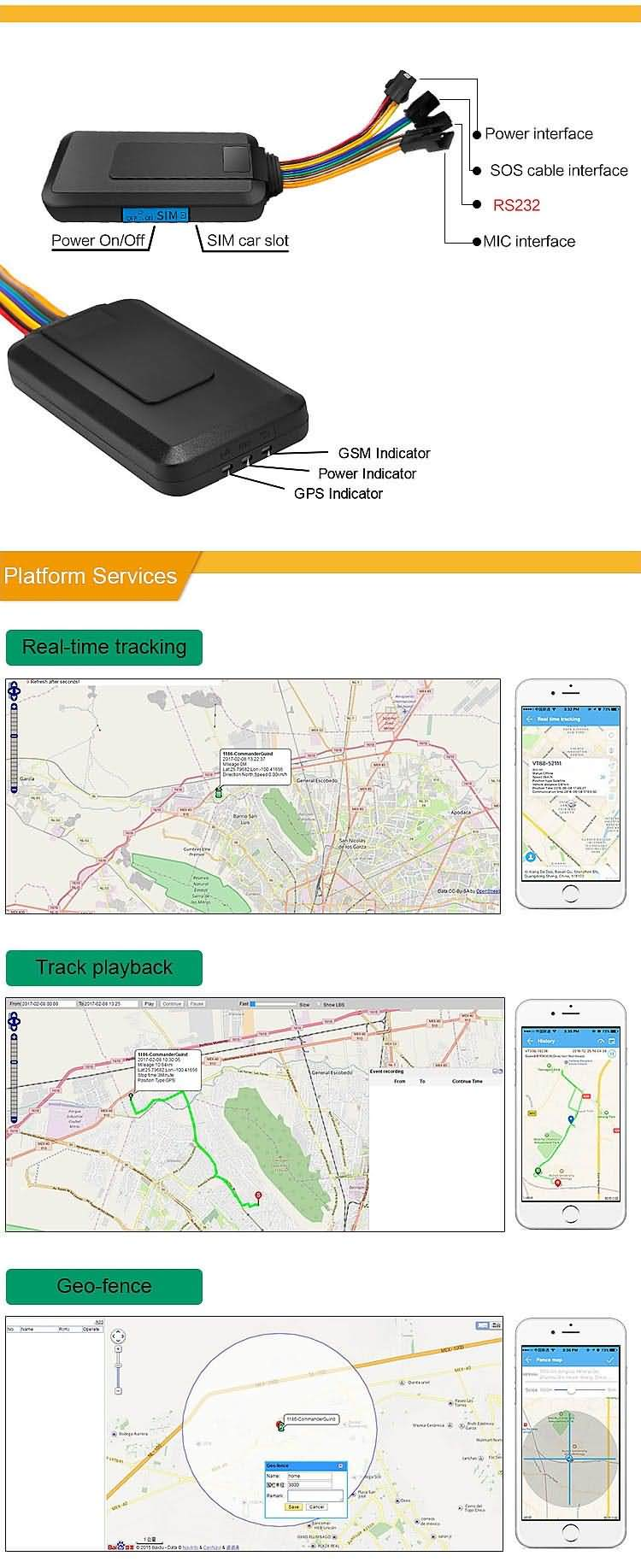gps tracker gt06 function