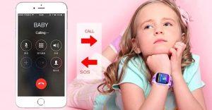 kids care smart watch gps tracker