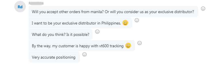 Philippines gps tracker customer feedback