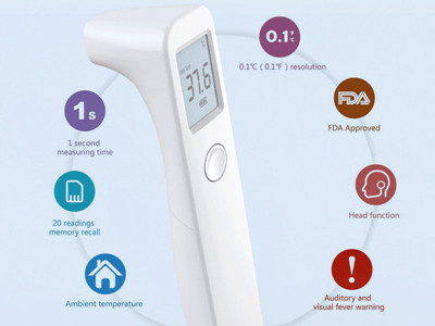 Which is the suggested non contact infrared thermometer for COVID-19 ?